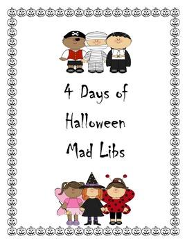 Four Days of Halloween Mad Libs