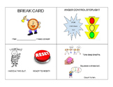 Four Different Coping and Break Cards for Students