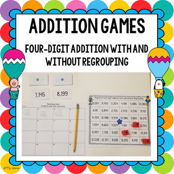 Four Digit Addition Game