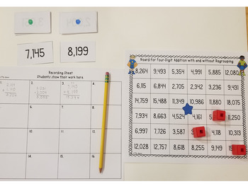 Four-Digit Addition Game