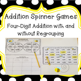 Four Digit Addition Spinner Games