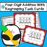 Four-Digit Addition With Regrouping Task Cards & Recording Sheet