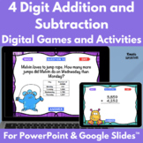 Four Digit Addition and Subtraction With Regrouping PowerPoint Game Bundle