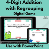 Four Digit Addition and Subtraction with Regrouping PowerPoint Game