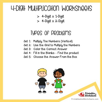 Four Digit Multiplication Worksheets With Answer Keys