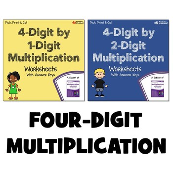 Multiplying 4 Digit Numbers Worksheets With Answer Keys