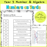 Four Digit Numbers as Words Year 3 Mathematics Number and Algebra