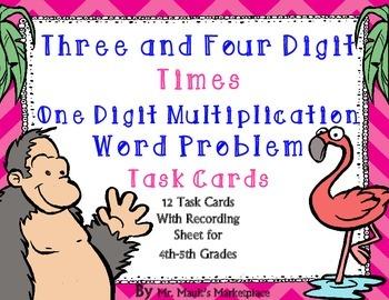 Four Digit times Single Digit Multiplication Word Problem