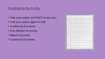 Four Economies (Mixed, Command, Free, and Traditional) PowerPoint
