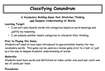 Four Engaging Vocabulary Building Strategies