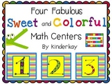 Four Fabulous Sweet and Colorful Math Centers