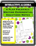 Four Flap Foldable: Writing Exponential Equations