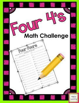 Four Fours Math Challenge