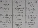 Four Fours Math Challenge