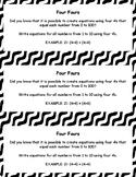 Four Fours Task Card