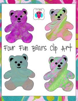 Four Free Bear Clip Arts