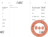 Four French verb foldables {ER, IR, RE and FAIRE}