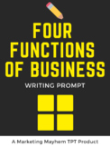 Four Functions of Business Writing Prompt