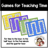 Four Games for Teaching Time (O'Clock,  Half Past, Quarter Hour, 5 minutes)