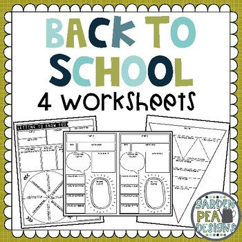 Four Getting To Know You Worksheets!