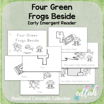 Four Green Frogs Early Emergent Reader (Beside) - BUNDLE