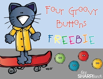 Four Groovy Buttons FREEBIE