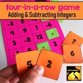 Four-In-A-Row Game: Adding and Subtracting Integers