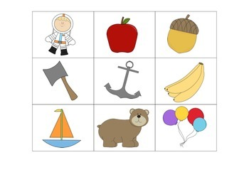 """""""Four In A Row!"""" Letter Recognition Game (A, B, C, D, E)"""