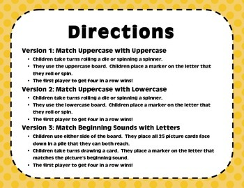 """""""Four In A Row!"""" Letter Recognition Game (H, I, R, D, V)"""