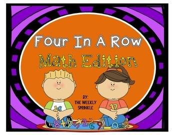 Four In A Row Math Edition