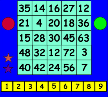 Four In A Row Multiplication
