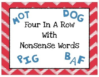 Four In A Row Nonsense Word Game