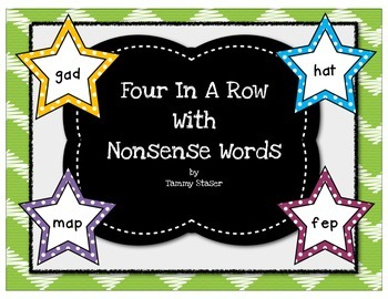 Four In A Row Nonsense Word Game Set 2