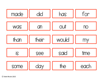 Christmas Four-In-A-Row : Sight Word Game!