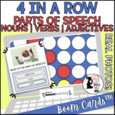 Four In a Row BOOM Cards™ for Parts of Speech | Nouns Verbs Adjectives | Photos