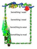 Four Item Christmas List