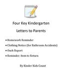 Four Key Kindergarten Letters to Parents
