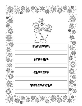 Four Kinds of Sentences Christmas-themed Activity