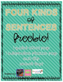 Four Kinds of Sentences FREEBIE