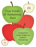 Four Kinds of Sentences Sort (apple theme)