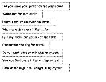 Four Kinds of Sentences Sort (apple theme)