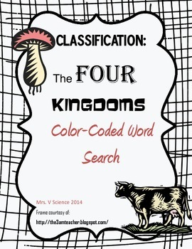 Four Kingdoms Color-Coded Word Search