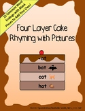 Rhyme Word Endings Four Layer Cake Game for Phonological A
