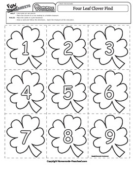 St. Patrick's Day: Four Leaf Clover Game