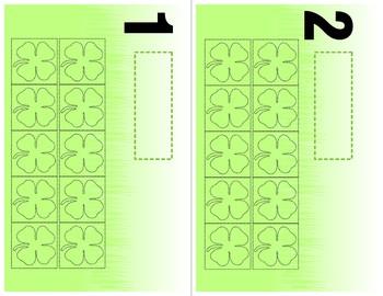 Four Leaf Clover Game - Additon 0 -10 Tens Frame Mats - Learning Center Kit