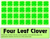 Four Leaf Clover Game - Additon 0 -10 Tens Frame Mats - Le