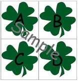 Four Leaf Clover Lower and Upper Case Alphabet Cards St. Patrick's Day