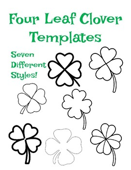 image about Printable Four Leaf Clover named 4 Leaf Clover Template 4 Leaf Clover Coloring 4 Leaf Clover Define