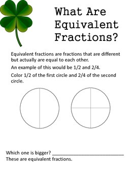 St. Patrick's Day- Four Leaf Fractions