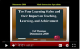 Four Learning Styles and Their Impact in the Mathematics C